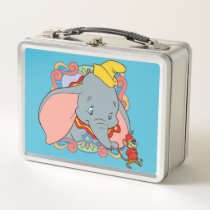 Dumbo is smiling metal lunch box