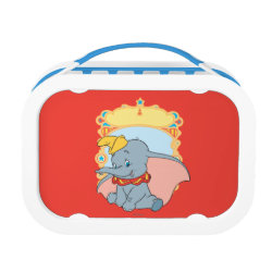 Blue yubo Lunch Box with Cute Cartoon Young Cinderella design