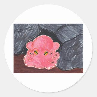 Dumbo Octopus Classic Round Sticker