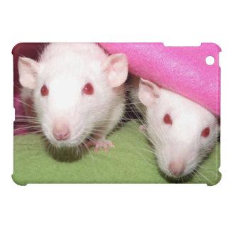 Dumbo rats in the pink iPad mini case