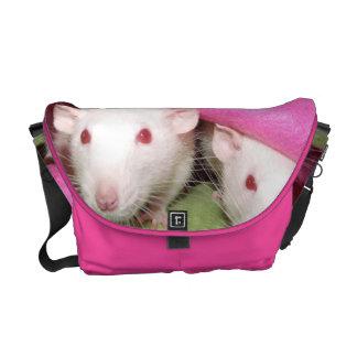 Dumbo rats in the pink Rickshaw Messenger bag