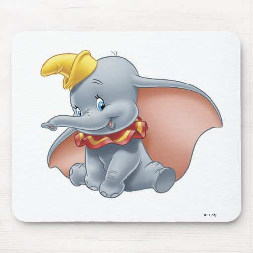 Dumbo Sitting Mouse Pad
