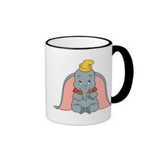 Dumbo Sitting Playfully Ringer Coffee Mug