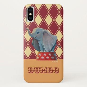 Dumbo   Smiling Atop Circus Podium iPhone X Case