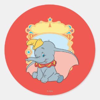 Dumbo Round Stickers