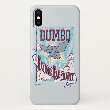 "Dumbo   ""The Flying Elephant"" Circus Art iPhone X Case"