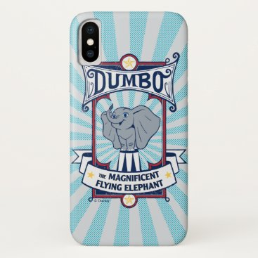 Dumbo   The Magnificent Flying Elephant Circus Art iPhone X Case