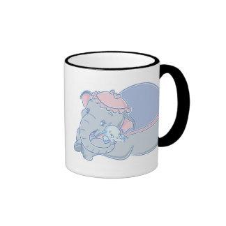 Dumbo y jumbo taza de dos colores