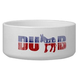 DUMBOCRAT Faded.png Dog Food Bowls