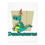 Dumbosaurus Dino Cartoon Personalized Invitations