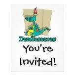 Dumbosaurus Dino Cartoon Personalized Invite