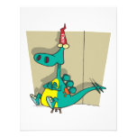 Dumbosaurus Dunce Dinosaur Cartoon Personalized Invitation