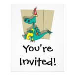 Dumbosaurus Dunce Dinosaur Cartoon Invite