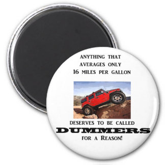 Dummers are fossilized thinking! 2 inch round magnet
