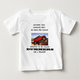 Dummers are fossilized thinking! infant t-shirt
