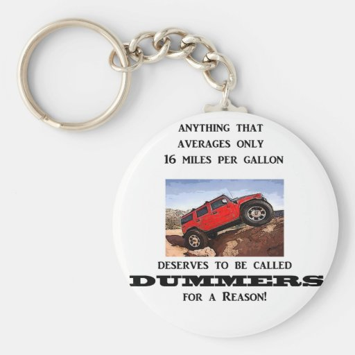 Dummers are fossilized thinking! keychain