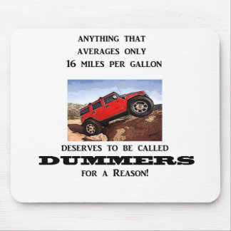 Dummers are fossilized thinking! mouse pad