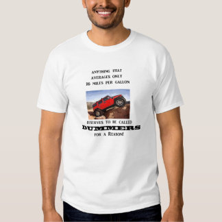 Dummers are fossilized thinking! t-shirt