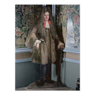 Dummy board figure of a man, c.1690 poster