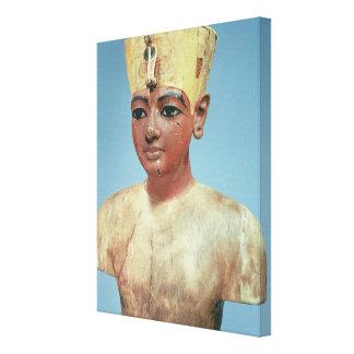 Dummy de llevar joven de Tutankhamun Impresión En Lienzo Estirada