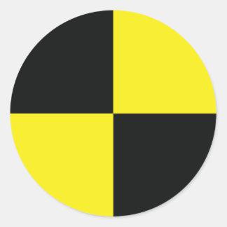 dummy measure point engineer classic round sticker