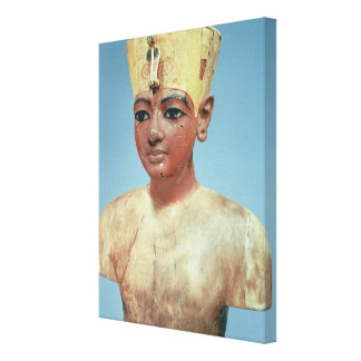 Dummy' of the young Tutankhamun  wearing Stretched Canvas Prints