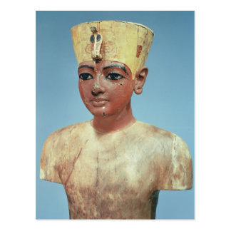 Dummy' of the young Tutankhamun  wearing Post Card