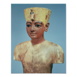 Dummy' of the young Tutankhamun  wearing Poster