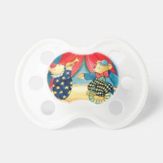"Dummy with motive for kind of water color ""teddy c baby pacifiers"