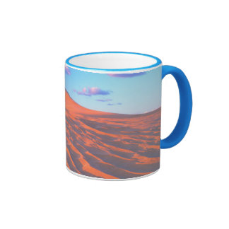 Dumont Dunes, Sand Dunes and Clouds Ringer Coffee Mug