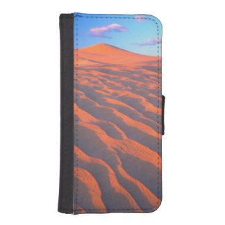 Dumont Dunes, Sand Dunes and Clouds Wallet Phone Case For iPhone SE/5/5s