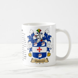 Dumont, the Origin, the Meaning and the Crest Classic White Coffee Mug