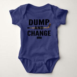 Dump and Change Hockey Baby Bodysuit Color