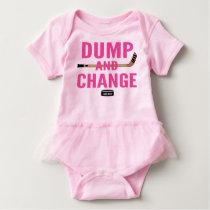 Dump and Change Hockey Baby Girl Pink Tutu Baby Bodysuit