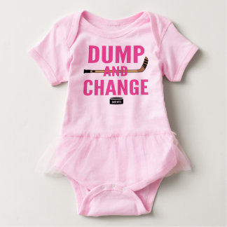 Dump and Change Hockey Baby Girl Pink Tutu Baby Bodysuit