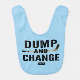 Dump and Change Hockey Light Blue Bib