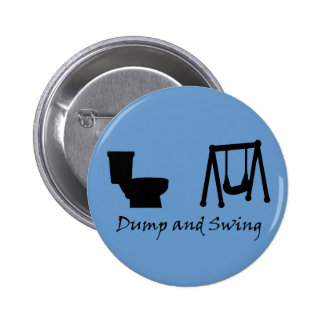 Dump and Swing - Ultimate Frisbee (dark) 2 Inch Round Button