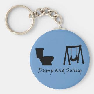 Dump and Swing - Ultimate Frisbee (dark) Keychain