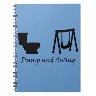 Dump and Swing - Ultimate Frisbee (dark) Notebook