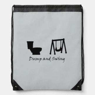 Dump and Swing - Ultimate Frisbee (light) Drawstring Bag