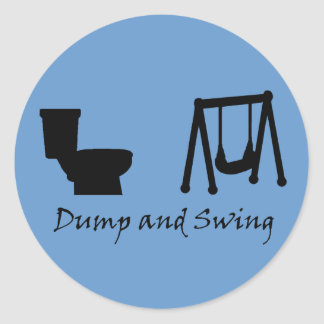 Dump and Swing - Ultimate Frisbee Sticker