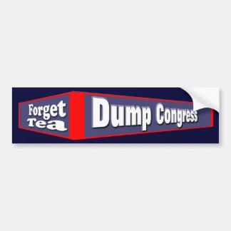 Dump Congress Car Bumper Sticker