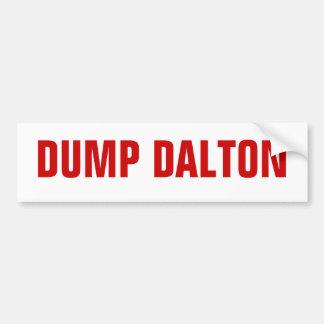 Dump Dalton Bumper Sticker