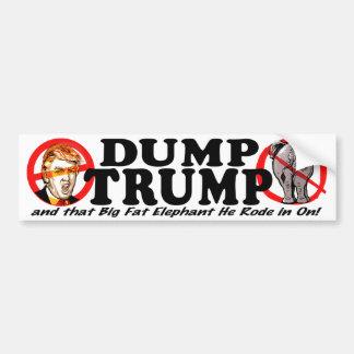 Dump Donald Trump 2016 Bumper Sticker