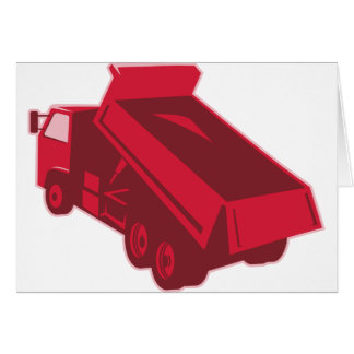 dump dumper truck dumping load rear card