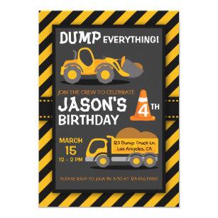 Dump truck birthday invitations announcements zazzle dump everything dump truck birthday party invite filmwisefo