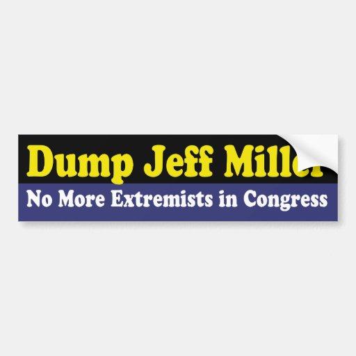 Dump Jeff Miller Bumper Sticker