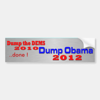 Dump Obama 2012 Bumper Sticker