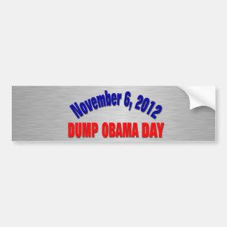 Dump Obama Day Car Bumper Sticker