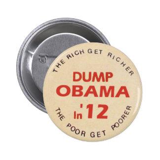 Dump Obama in 2012 2 Inch Round Button